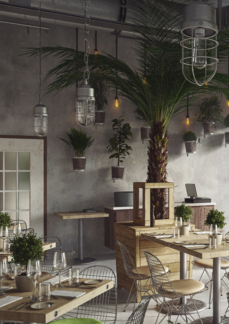 Industrial Restaurant | Visumetrie Architekturvisualisierung