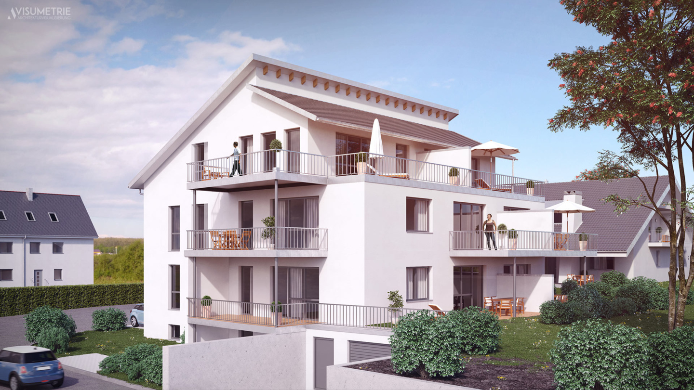 Wohnbau Muhr   Visumetrie Architekturvisualisierung