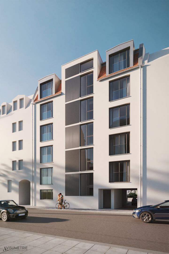Neubau Mehrfamilienhaus Nürnberg | Visumetrie Architekturvisualisierung