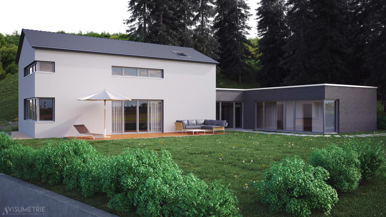 Haus A | Visumetrie Architekturvisualisierung