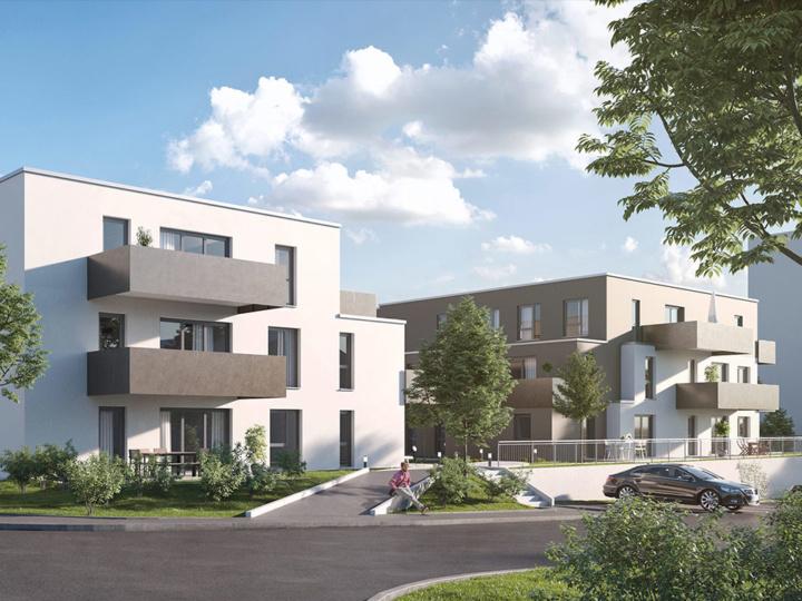 Neubau Mehrfamilienhaus Gunzenhausen | Visumetrie Architekturvisualisierung